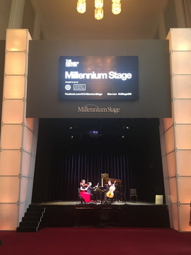 Millennium Stage at the Kennedy Center on March 3, 2019 with the Boulanger Initiative.