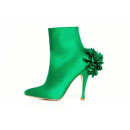 Emerald Sateen Dahlia Ankle Boot