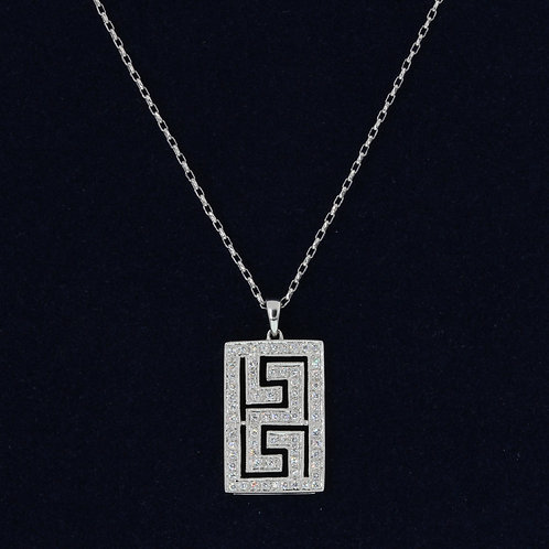 Maze Diamond Necklace
