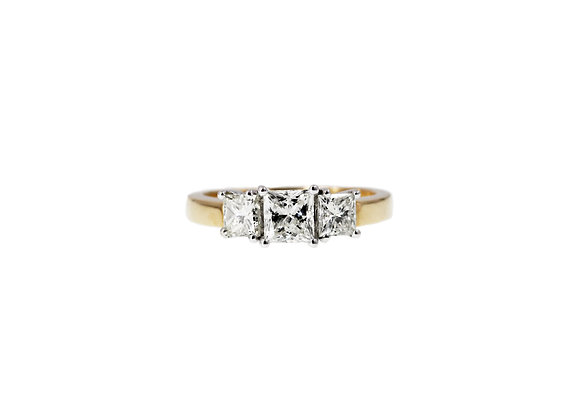 LET EVERY MOMENT COUNTS 3-PRINCESS DIAMOND RING