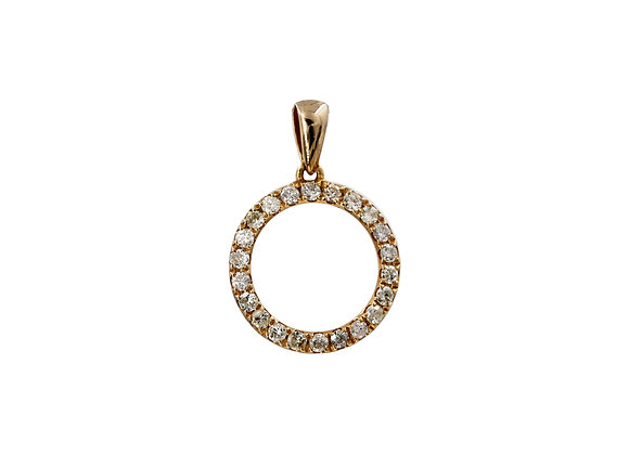 NO TIME TO WASTE YELLOW GOLD PENDANT
