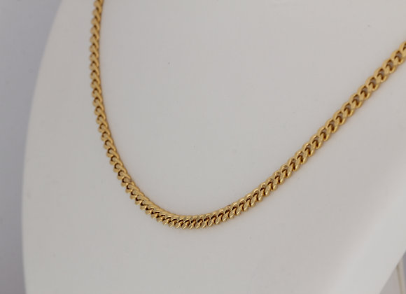 18K YELLOW GOLD HEAVY CHAIN NECKLACE