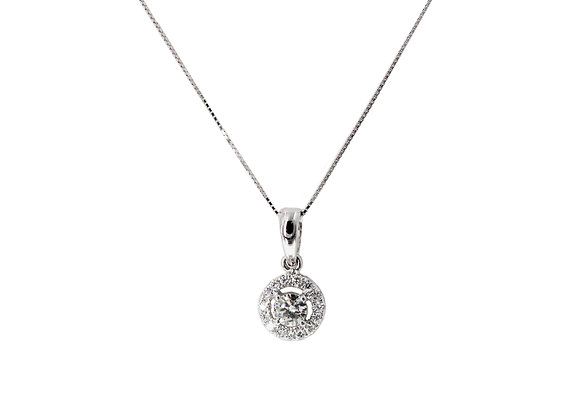 A MOMENT WITH YOU HALO DIAMOND NECKLACE