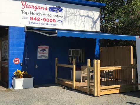 Yeargan's Outdoor Waiting Area