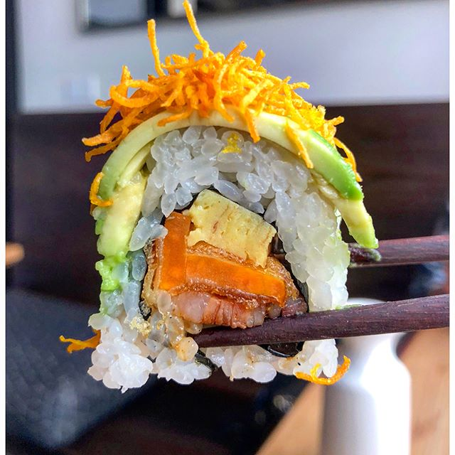 🥢BREAKFAST SUSHI🥢 is a thing at _bamboosushi now! They just rolled out their new and ✨unqiue✨ brun