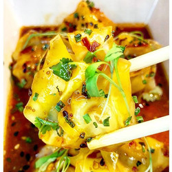 🔥CRAZY SICHUAN SHRIMP WONTONS🔥 from _ace_eat_serve. These wontons have the perfect amount of spice