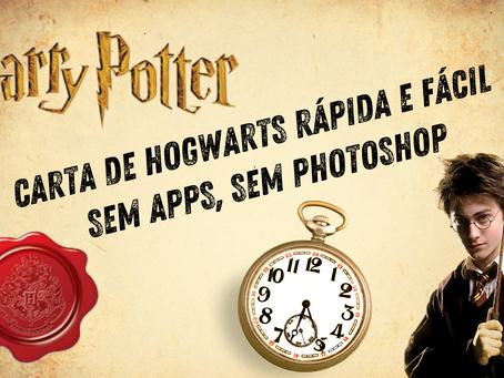 Carta para Hogwarts personalizável (português) em PDF, fácil e rápida