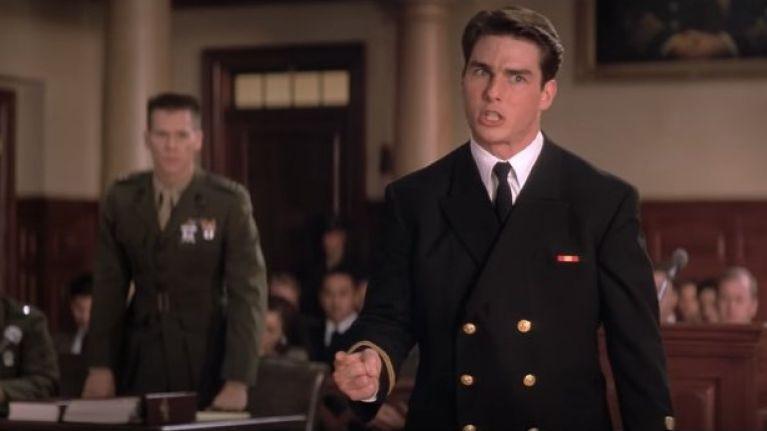 Tom Cruise não consegue lidar com a verdade. Confira meu post sobre os melhores filmes de tribunal, link no final do post