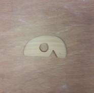 Lomer hout rond/recht met inkeping S