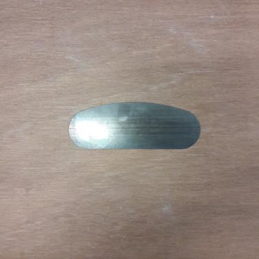 Lomer metaal rond/recht L