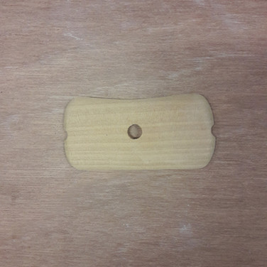 Lomer hout rechthoek met inkeping
