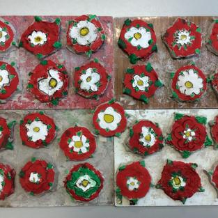 Clay Tudor Roses