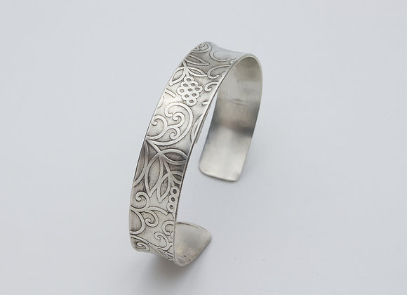 Sterling Silver Vines and Swirls Cuff Bracelet