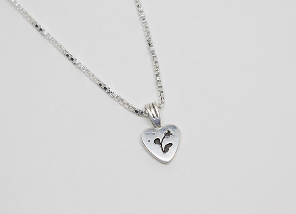 Hearts and Flowers Sterling Silver Pendant
