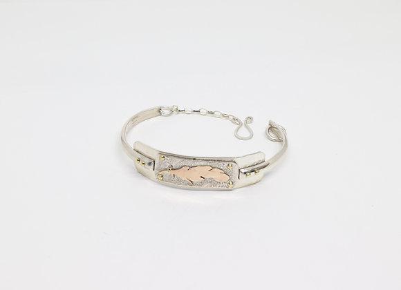 Sterling and 14kgf Leaf Bracelet