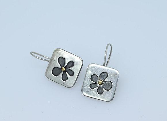 Little Square Flower Earrings