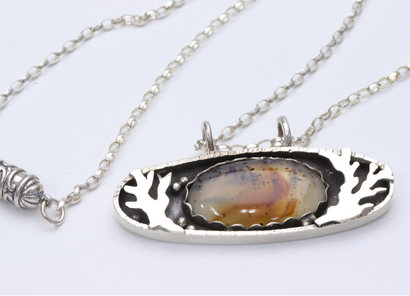 Sterling Trees and Montana Moss Agate Pendant