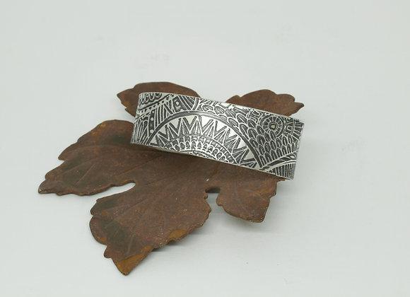 A Sterling Silver Sunburst Tribal Cuff Bracelet