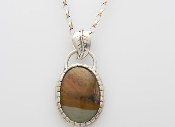 Picture Jasper set in Sterling Silver
