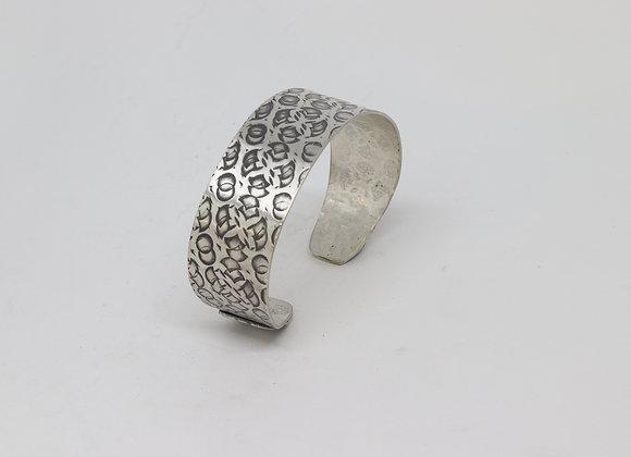 Sterling Silver Crazy Patterned Cuff Bracelet