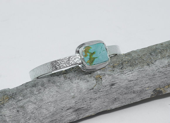 A Modern Sterling and Turquoise Cuff Bracelet