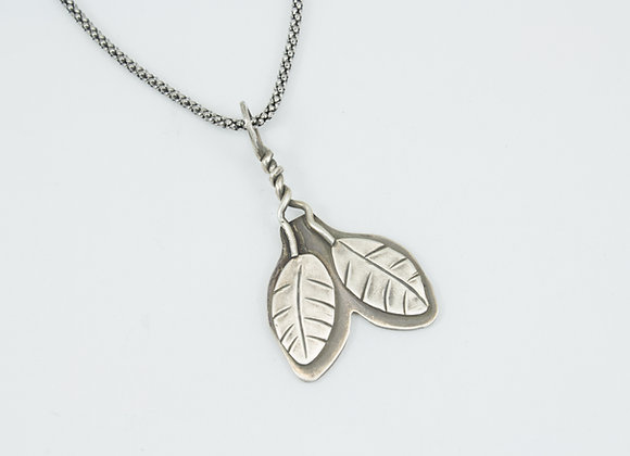 Two Little Leaf Pendant