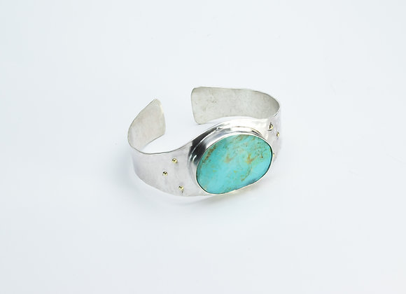 Arizona Turquoise and Sterling Cuff Bracelet