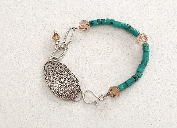 Sterling and Turquoise Link Bracelet