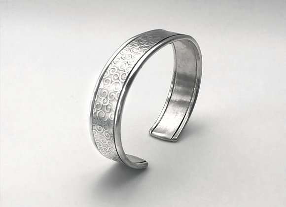 Sterling Silver Cuff with Whimsical Swirls