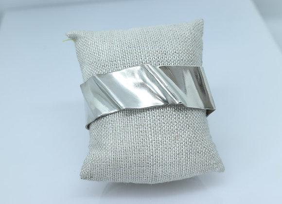 Sterling Silver Fold Formed Cuff Bracelet