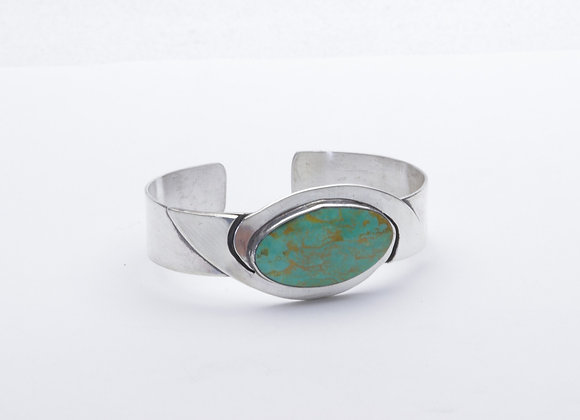 Tyrone Turquoise and Sterling Silver Cuff Bracelet