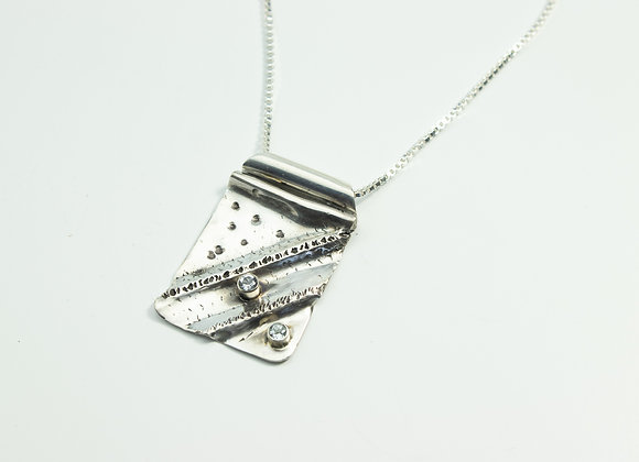 Sterling Silver Fold Formed Pendant