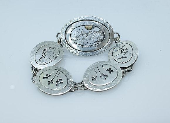 Sterling Silver Hidden Clasp Link Bracelet
