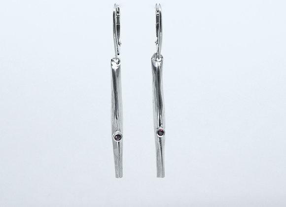 Sterling Silver Spicuilum Earrings with Rubies.