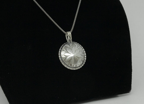 A Sterling Silver Spring Flower Pendant