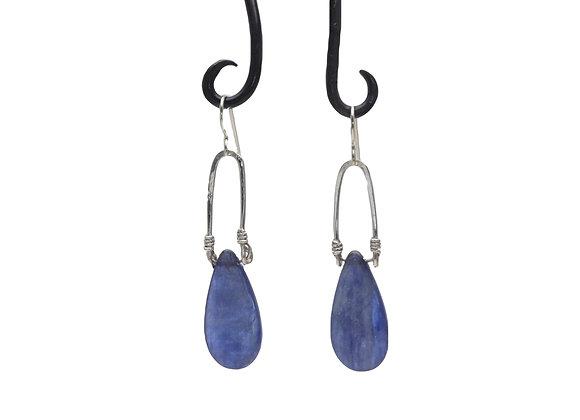 Sterling and Kyanite Drop Earrings