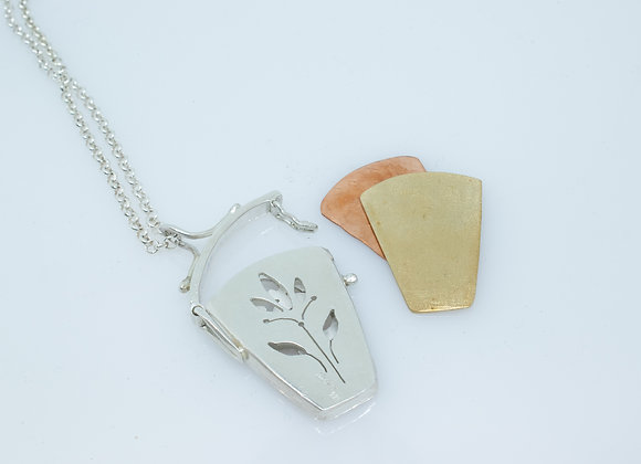 Sterling Silver Hinged Box Pendant