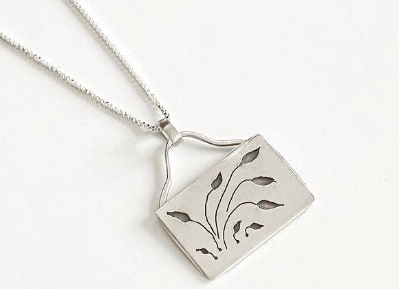Sterling Silver Hand Pierced Leaf Pendant