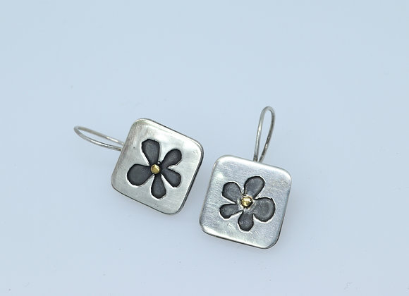 Little Sterling Flower Earrings