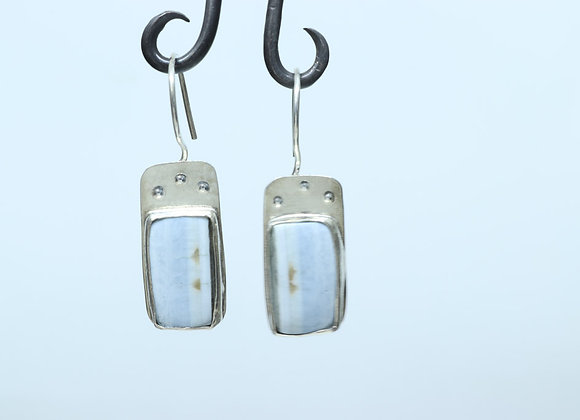 Peruvian Blue Opal and Sterling Earrings