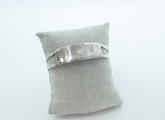 Sterling Silver Vine and Wire Cuff Bracelet