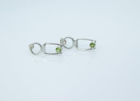 Peridot and Sterling Drop Earrings