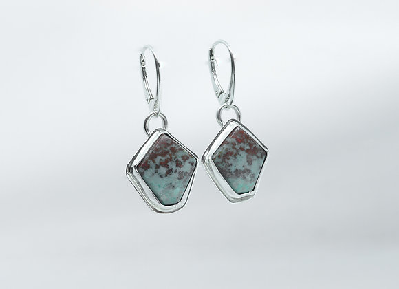 Beautiful Matched Pair Ruby Zoisite Earrings
