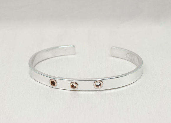 An Everyday Sterling and Brass Cuff Bracelet