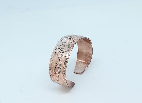 Copper Flower Cuff Bracelet