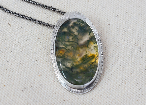 Moss Agate set in Sterling Silver