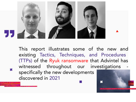 Adversary Dossier: Ryuk Ransomware Anatomy of an Attack in 2021