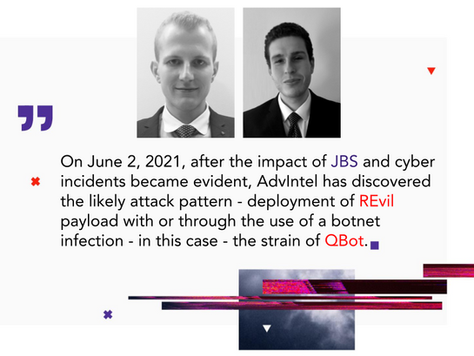 From QBot...with REvil Ransomware: Initial Attack Exposure of JBS