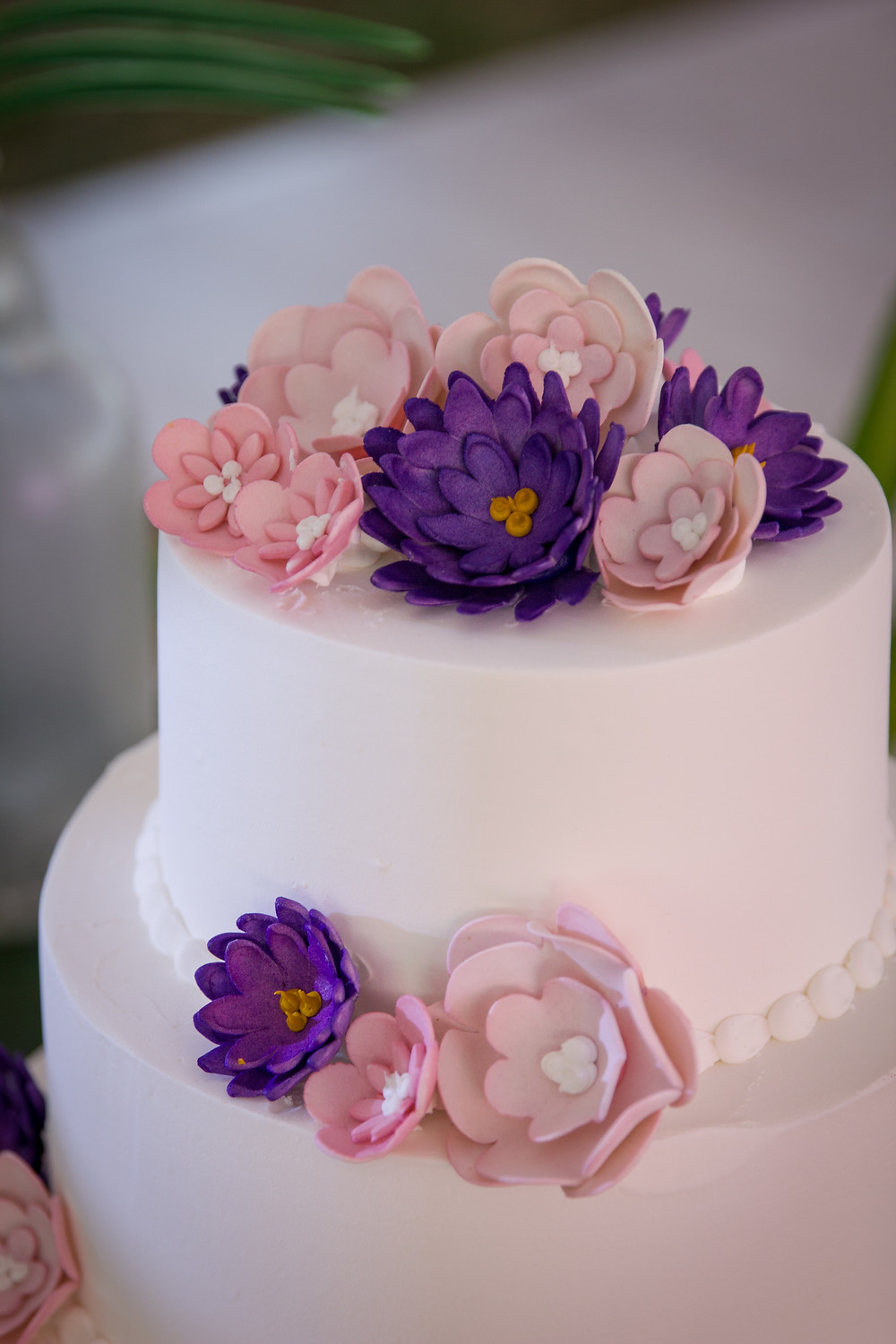 blue diamond events, wedding, coordinating, tropical, wedding cake, hy-vee, columbia, missouri, mo