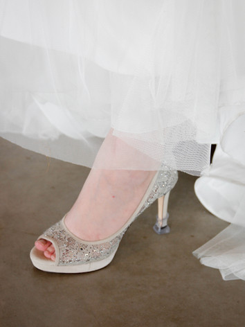 bride shoes sparkle white heels columbia mo photography
